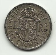 1958 - Gran Bretagna 1/2 Crown, - 1902-1971 : Monete Post-Vittoriane