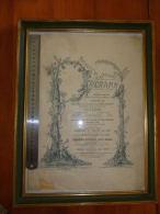Messines Mons Exceptionnelle lithographie Kermesse de 1892 Concours de crosse au but Jeu de picots  Course �nes