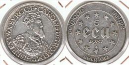 BELGICA 5 ECU 1987  PLATA SILVER  EBC+ BELGIË - Belgique