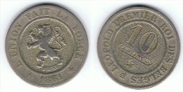 BELGICA 10 CENTS FRANCOS 1861  MBC+ BELGIË - 1831-1865: Léopold I