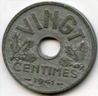 France 20 Centimes 1941 VINGT GAD 320 KM 899 - E. 20 Centimes