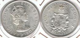 BERMUDA CROWN 1964 UNC SC PLATA SILVER - Bermudas