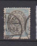 Danemark  //  N 22 B  //  3 Ore Bleu Et Gris  //  Oblitéré  //  Côte 15 € - Gebraucht