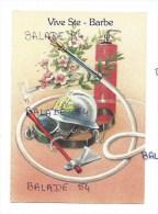 CPM - Vive Sainte Barbe - Matériels De POMPIER : Casque, Hache, Extincteur, Lampe, Lance, Masque... Fleurs - Unclassified