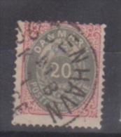 Danemark  //  N 26  //  20 Ore Rose Et Gris  //  Oblitéré  //  Côte 40 € - 1864-04 (Christian IX)