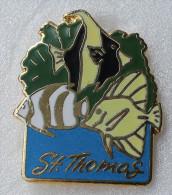 Pin´s Poissons Exotiques  Ile Saint Thomas ( Iles Vierges ) - Tauchen