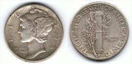 EE UU USA  DIME 1937 1937 PLATA SILVER - 1916-1945: Mercury