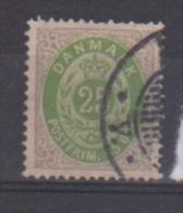 Danemark  //  N 27 B  //  25 Ore Gris Vert   //  Oblitéré  //  Côte 45 € - Gebraucht