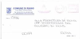 COMUNE DI RIANO - 00060 PROV. ROMA - ANNO 2010 - LS/AMR - FTO 11x23 - TEMA TOPIC COMUNI D´ITALIA - STORIA POSTALE - Affrancature Meccaniche Rosse (EMA)