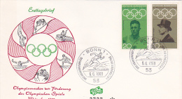 Germany 1968 Olympic Games Mexico, Rudolf Harbig And Von Langen, FDC - Summer 1968: Mexico City