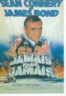 "E 143 -  IRVIN KERSHNER  "" JAMAIS PLUS JAMAIS "" SEAN CONNERY / KIM BASINGER / CLAUS MARIA BRANDAUER - Posters Op Kaarten"