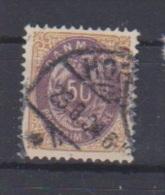 Danemark  //  N 28A  //  50 Ore Bistre Et Lilas //   Oblitéré  //  Côte 25 € - 1864-04 (Christian IX)