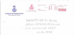 CIVITAVECCHIA - 00053 - PROV  ROMA - ANNO 2013 - LS/AMR - FTO 11x23 - TEMA TOPIC COMUNI D´ITALIA - STORIA POSTALE - Machine Stamps (ATM)