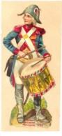 Tambour De La Garde Municipale - 1792 - Découpis Sur Fragment De Page D'Album (6 X 13 Cm) - Voir Scan. - Non Classés