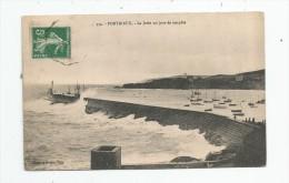 Cp , 22 , PORTRIEUX , Le Jetée Un Jour De Tempête , Voyagée 1912 - Pontrieux
