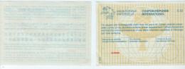 Suisse - UPU - Coupon Réponse International - CN 01 (ancien C 22) - Antwoordbons