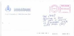 COMUNE DI BRACCIANO - 00062 - PROV ROMA - ANNO 2012 - LS/AMR - FTO 11x23 - TEMA TOPIC COMUNI D´ITALIA - STORIA POSTALE - Affrancature Meccaniche Rosse (EMA)