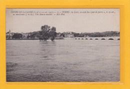TOURS (37) - CATASTROPHES - INONDATIONS - CRUES DE LA LOIRE 15 ET 21,22 OCT 1907 - TOURS LA LOIRE EN AVAL DU PONT Etc... - Tours