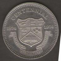 ONTARIO AGRICULTURAL COLLEGE CENTENNIAL 1874-1974 100 IN GUELPH - Gettoni E Medaglie