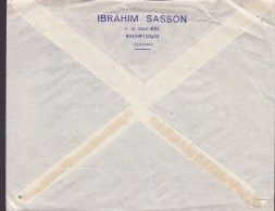Sudan Air Mail Par Avion IBRAHIM SASSON, KHARTOUM 1955 Cover Brief BERLIN - CHARLOTTENBURG Germany Landarbeiter (2 Scans - Sudan (1954-...)