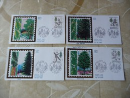 LOT  COLLECTION  ENVELOPPES  1ER  JOURS    ANNEE   1985 - Timbres