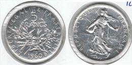 FRANCIA 5 FRANCOS 1960 PLATA SILVER - Finlandia