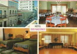 PP721 - POSTAL - HOTEL DOS NACIONES - VERIN - FACHADA PRINCIPAL - COMEDOR - DORMITORIO - SALON DE BAILE