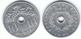 GRECIA 10 LEPTA 1971 EBC - Grecia