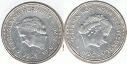HOLANDA JULIANA 10 GULDEN 1970 SC UNC  PLATA SILVER - 10 Gulden