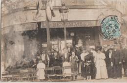 CPA PHOTO 75 PARIS XII 87 Ave Ledru Rollin 98 Faubourg Saint Antoine A La Renommé Du Bon Café Maison GIRALDON 1904 Rare - Distretto: 12