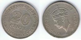 MALASIA MALAYA GEORGIUS VI 20 CENTS 1948 - India