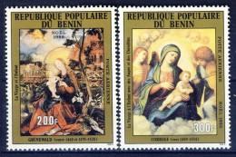 ##K1274. Benin 1982. Christmas. Paintings. Michel 304-05.  MNH(**) - Benin - Dahomey (1960-...)