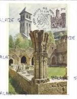 CPM - BELGIQUE - ABBAYE NOTRE DAME D'ORVAL - Le Cloitre Médiéval D'Orval - Carte Timbrée + Cachet - Unclassified