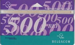 BELGIUM - Belgacom telecard 500 BEF, CN : 606A, tirage 50000, used