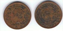SRI LANKA CEILAN 1 QUARTER CENT VICTORIA 1901 - Sri Lanka