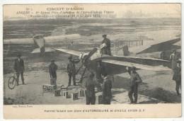 ANGERS - Juin 1912 - HANRIOT Faisant Son Plein D'Automobiline Et D'Huile D'Avion D.F. - Demonstraties