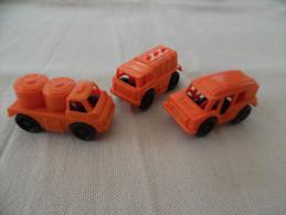 Kinder Ancien : Lot De 3 Véhicules Aéroport : Airport Spezial-Fahrzeuge 1986 - Mountables