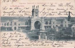 EXPOSITION UNIVERSELLE ET INTERNATIONALE DE LIEGE 1905 LA FACADE DES HALLS - Luik