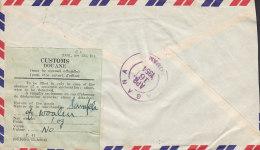 Hong Kong Airmail P.D. HEMLANI & Co. Registered Label HONG KONG 1954 Cover Brief To GUAM Customs Douane Label (2 Scans) - Brieven En Documenten