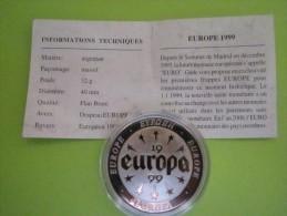 1 MEDAILLE - EUROPA - ARGENTAN - 1999--NEUVE - Monnaie De Paris
