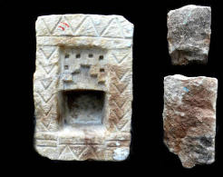 Magnifique AUTEL Indien XVII-XVIIIème Niche à Offrandes De Palais Rajput /Old Indian Stone Offering Cave Niche From A Ra - Art Asiatique