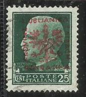 OCCUPAZIONE ITALIANA ITALY ITALIA LUBIANA GERMAN OCCUPATION 1944 TEDESCA 25 CENT. USATO USED OBLITERE' - Occup. Tedesca: Lubiana