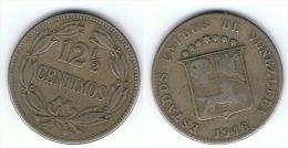 VENEZUELA 12 Y MEDIO CENTIMOS BOLIVAR 1946 - Venezuela