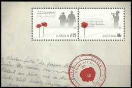 2011 Australia - World War 1 Commemoration - MS - Paper - MNH** - Prima Guerra Mondiale