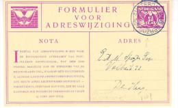 1930 Verhuiskaart 9 Met Stempel Amsterdam-MAG.GERZON Naar Den Haag - Postal Stationery