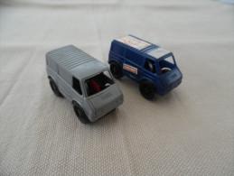 Kinder Ancien :  Lot De 2 Véhicules , Transporteur Fiat 1984 - Mountables