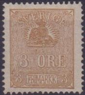 1862/72 SVEZIA SWEDEN SVERIGE  VALORE IN ORE  3 O. Bistrio N.12a  MNH.  Cat. € 260,00 - Neufs