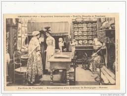 38 GRENOBLE 1928 EXPOSITION HOUILLE BLANCHE ET TOURISME  PAVILLON DU TOURISME INTERIEUR BOURGOGNE CPA DE CARNET BON ETAT - Grenoble