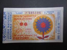 LOTERIE NATIONALE 1968 (M1515) FONTAINE-L'EVÊQUE (2 Vues) 27/05/1968 7ème Tranche Des Fleurs - Loterijbiljetten