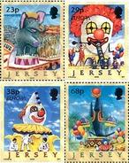 Ref. 89766 * MNH * - JERSEY. 2002. EUROPA CEPT. CIRCUS . EUROPA CEPT 2002 - EL CIRCO - Elephants